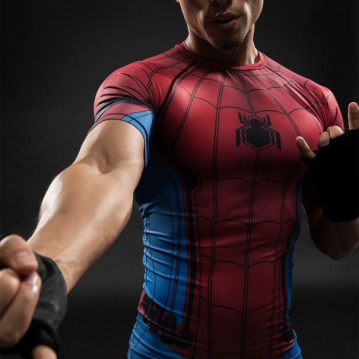 Spider-Man Compression Shirt //Price: $20.00 & FREE Shipping //     #superheroez #superheroes #marvel #dccomics