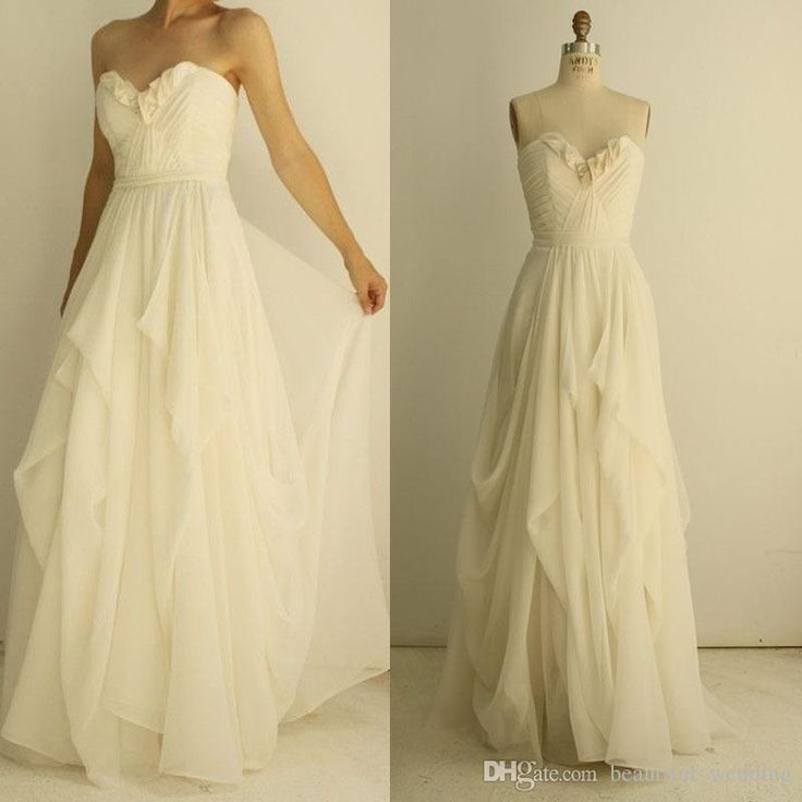 Bridal Collection Chiffon Cheap Wedding Dresses Under 100 Sweetheart Neckline Pleats Draped Floor Length Wedding Gowns 2015 New Custom Made For Bridal Dress For A Wedding From Beautiful_wedding, $75.4| Dhgate.Com