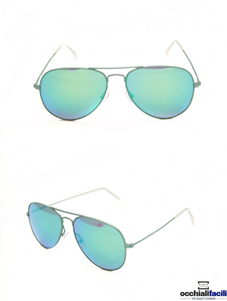 Occhiali da sole Mata Mod.1272 Col.VGB,in metallo con doppio ponte e terminali in celluloide,  lente specchiata e forma a goccia. http://www.occhialifacili.com/prodotto/occhiali-da-sole-mata-1272-col-y1/