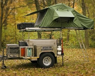 Would love to pull up at the c&ground towing one of these. | Overland Travel | Jeep c&ing C&er trailers Roof top tent & Would love to pull up at the campground towing one of these ...