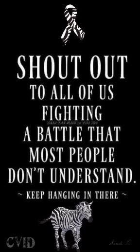 Shoutout for all those fighting invisible illnesses such as CRPS / RSD / EDS / Lyme / Lupus / CFS / Fibromyalgia