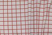 Dekorační látka- LIGURIA, červené čtverce