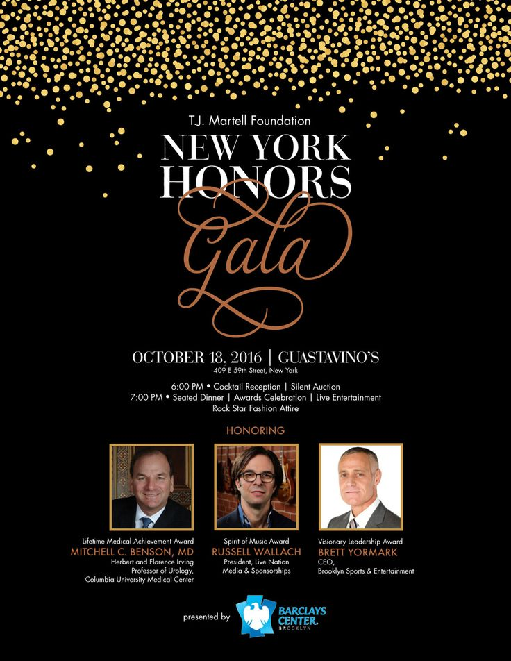 We anticipate a soldout crowd at this year's #HonorsGalaNY honoring Dr. Mitchell Benson, Russell Wallach, and Brett Yormark. Tickets are first come, first served so don't miss your chance to celebrate this exciting evening with us! Click here to buy yours today.