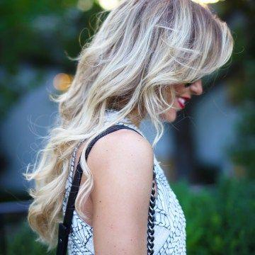Witte #jurk #pailletten #blond