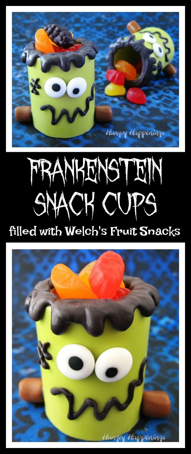 Frankenstein at your table - filled with   Welches Fruit Snacks for Halloween   #WelchsFruitSnacks #WelchsFruitRolls #UnrollTheFun  ad
