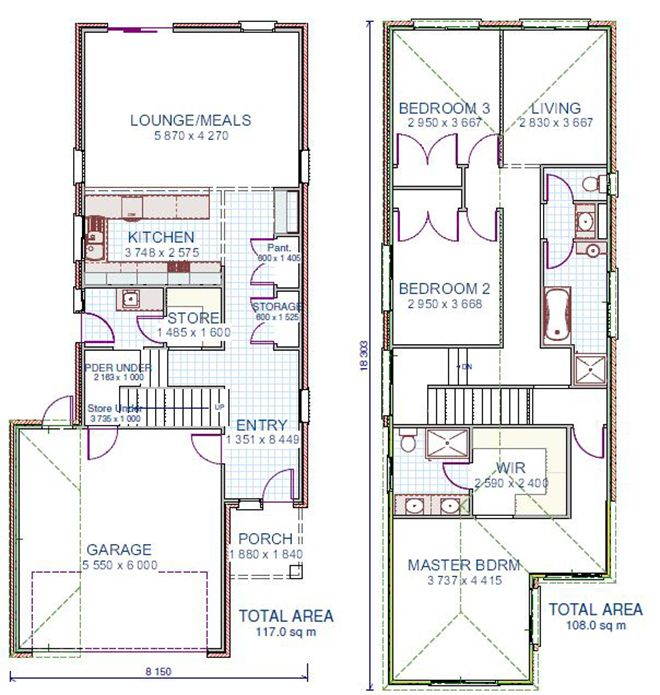 24 best images about townhome floor plans on pinterest house plans master bedrooms and - Meter wide house plans ...