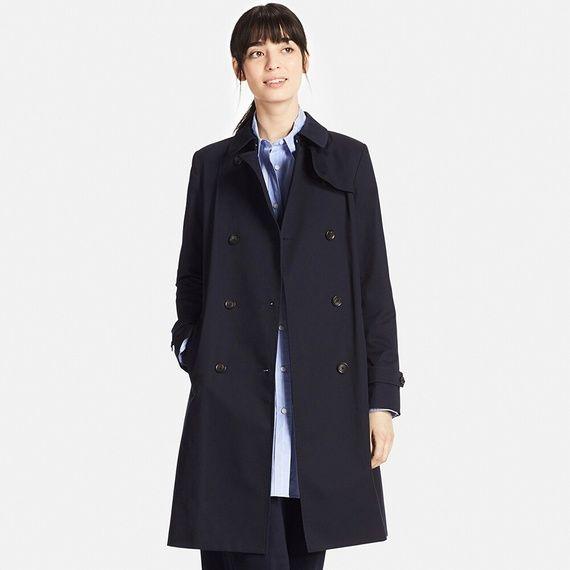 伝統のトレンチコートを、女性らしく&着心地良くアップデート。【ユニクロ】 トレンチコート(白・L)¥7990+税★170316米沢店でクレカ買い。来週のまさきちゃんの結婚式に合わせて。スーツやきちんと服に合わせるコートがそういえばなかったな、と。ベージュもいいけど紺色を選んだ。