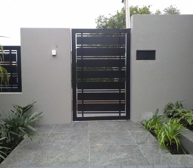 Image from for Modern front gate design