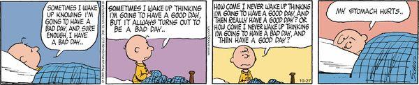 Peanuts Comic Strip, October 27, 2016     on GoComics.com