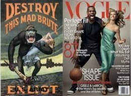 LeBron James as King Kong--wow.