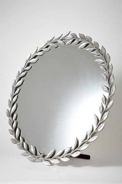 Estrid Ericson; Pewter and Mahogany Table Mirror for Svenskt Tenn, 1930s.