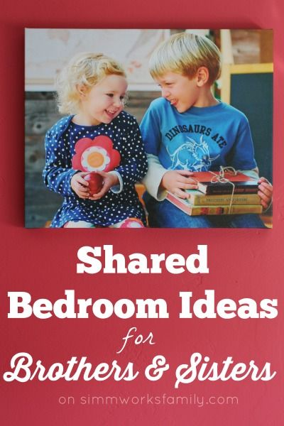 Shared Bedroom Ideas for Brother and Sister via @acraftyspoonful