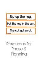 Phonics Lesson Planning
