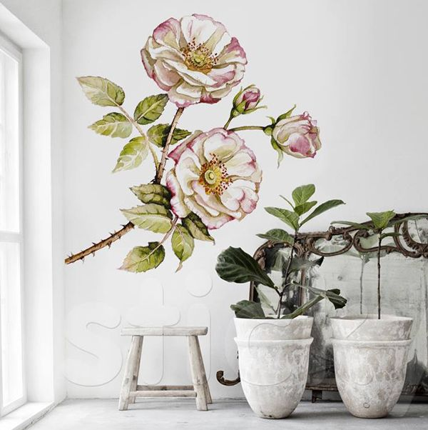 Wall Sticker VINTAGE FLOWER by Sticky!!!