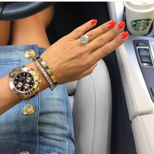 Rolex Watch And Cartier LOVE Bracelet
