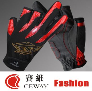 Fingerless Fishing Outdoor Sports Glove Comfortable PU Anti Slip Resistant Fishing Gloves Nonslip Mitten Skidproof Mittens 2017