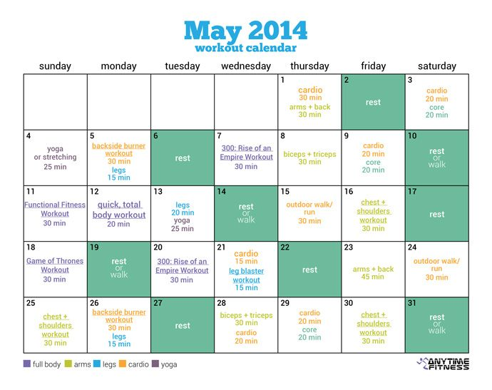 Workout Calendar Ideas : Best may workout calendar ideas on pinterest splits