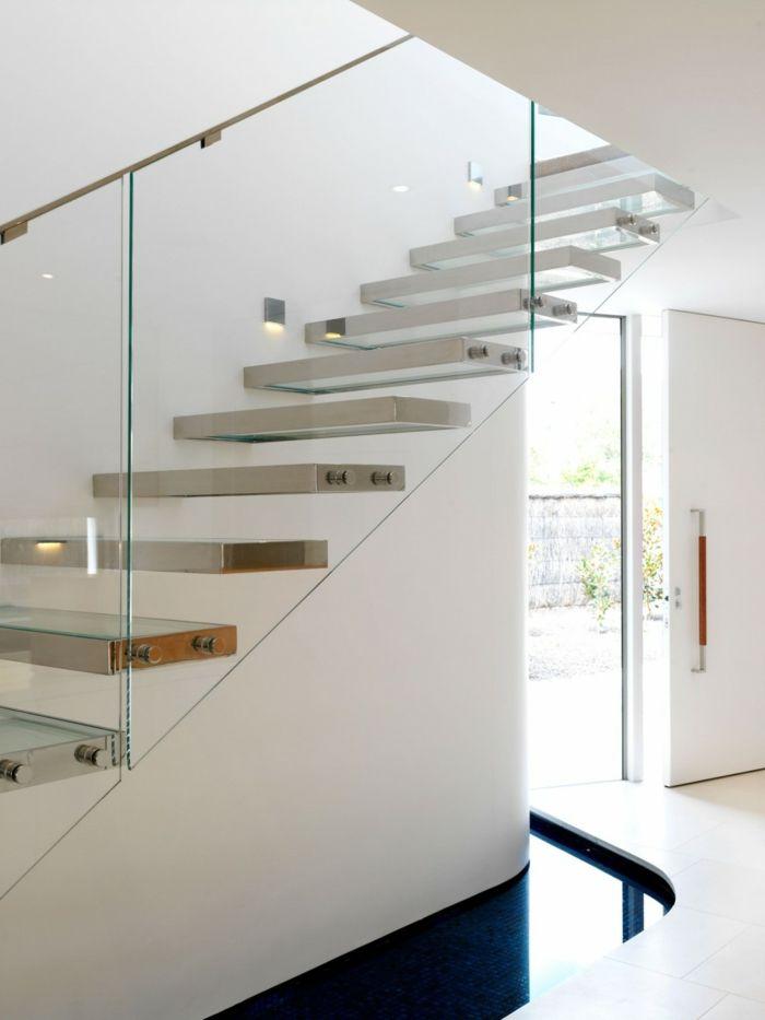 Schicke Treppengeländer Verschönern Das Moderne Treppenhaus Treppe
