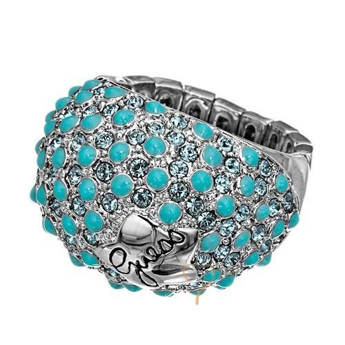 Δακτυλίδι Guess Silverplated με Turquoise Πέτρες - BeMine.gr