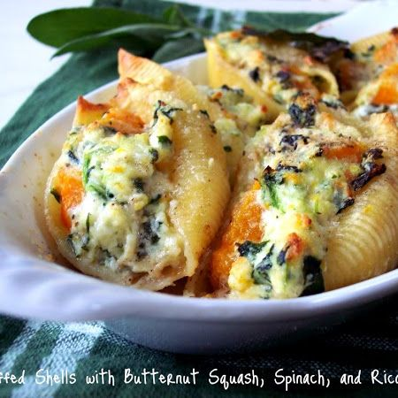 Butternut Squash, Ricotta & Spinach Stuffed Shells