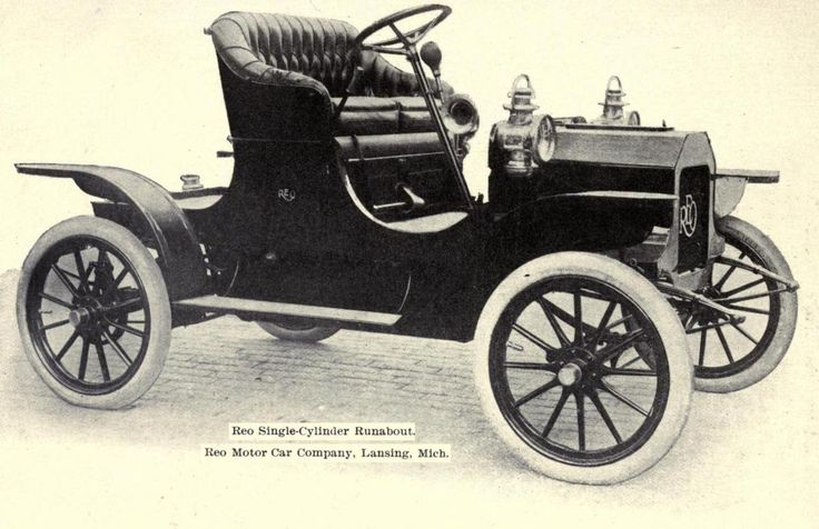 1909 - Reo Single Cylinder Runabout, Reo Motor Car Co. American made in Lansing, Michigan