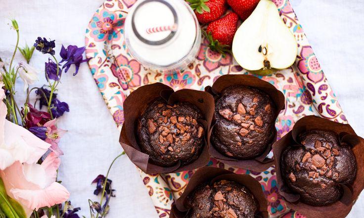 celozrnne cokoladove muffiny
