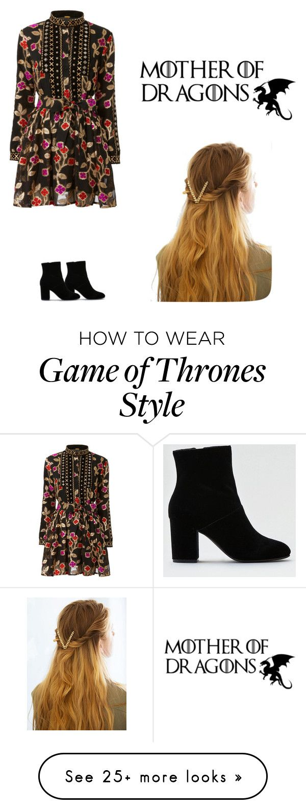 """""""Mother of Dragons (Medieval Inspiration) ~Under $100"""" by luminara17 on Polyvore featuring American Eagle Outfitters and WithChic"""