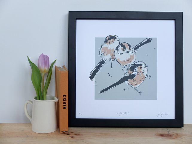 Longtailed tit screen print £30.00 By Jenny McCabe