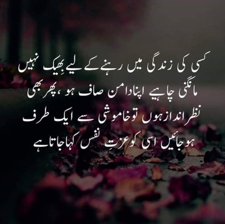 Deep Meaning Attitude Self Quotes In Urdu