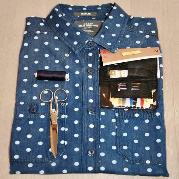 Custom mode, couture, chemise, lavallière