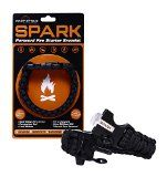 SPARK (TM) Fire Starter Paracord Bracelet with Emergency Whistle Side Release Buckle - Magnesium Fire Steel - Clasp with Knife Cutter & Striker Accessories - Survival Gear Kit on your wrist - Black 550 Mil-Spec 7-Strand Parachute Cord Rope - Uses include EDC, Camping Supplies, Outdoor Hiking and Hunting, Fishing, Lanyard, Belt, Knot, Jig, Clips - Best Paracord Bracelet Available - 100% SATISFACTION GUARANTEE & LIFETIME WARRANTY