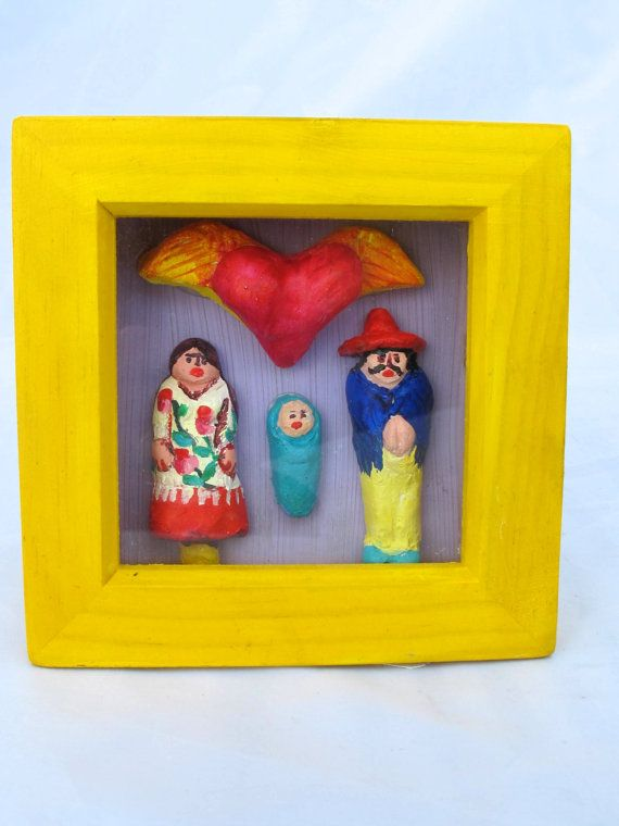 Mexican Inspired Shrine // Baby Shower Gift // by MrsMacBeth, £30.00