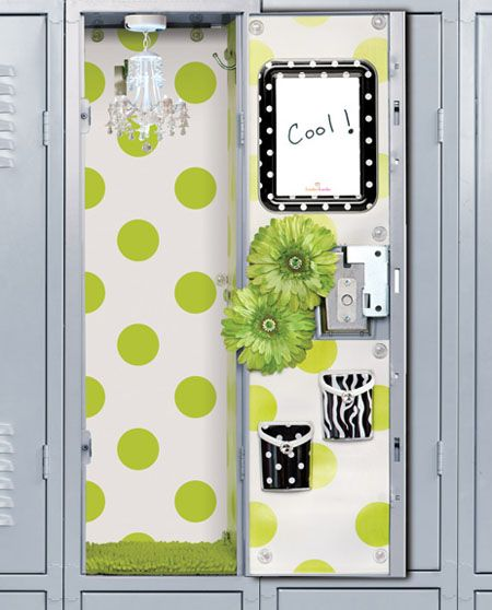 School Locker Decorations For Girls | Best Ideas Network The inside of my locker is pictured in my high school yearbook!