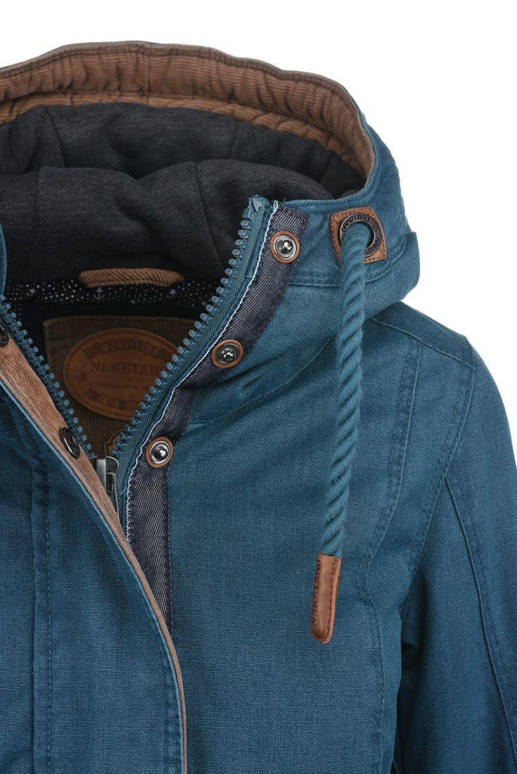 Petrolejová bunda s kapucí Naketano  modrabunda  bundaskapuci  febf1333a9
