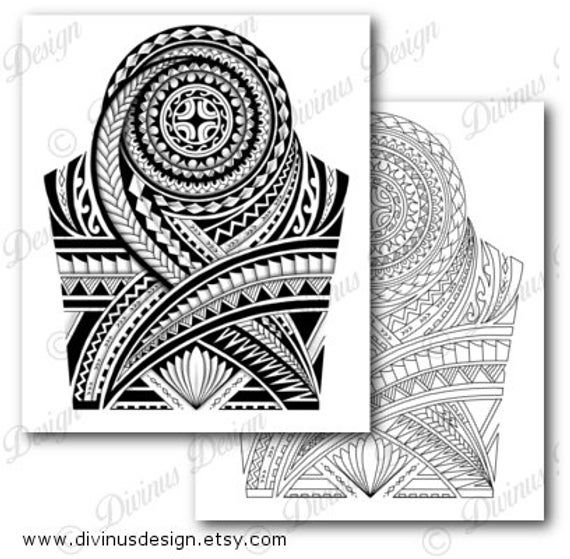 Half Sleeve Polynesian Tattoo Wrap Around Shoulder To Elbow Etsy Polynesian Tattoo Sleeve Polynesian Tattoo Designs Tribal Shoulder Tattoos