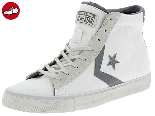 Converse - Converse Pro Leather Vulc Distressed Scarpe Uomo Bianche - Weiss, 45 (*Partner-Link)