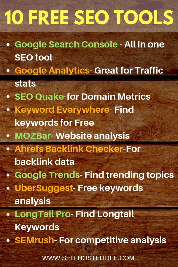 Die Top 10 der besten kostenlosen SEO-Tools zur sofortigen Verbesserung Ihres Google-Rankings im Jahr 2019 sind …