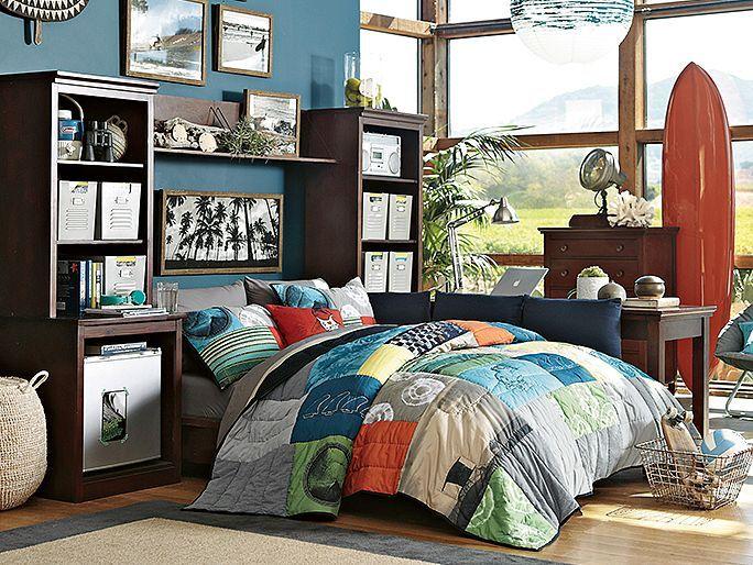 comforter Pottery Barn Teen  Boys Room Ideas  Surf