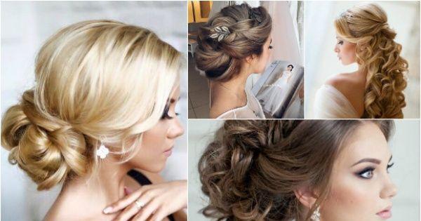 Najpiękniejsze fryzury ślubne dla panny młodej: koki i upięcia z loków.