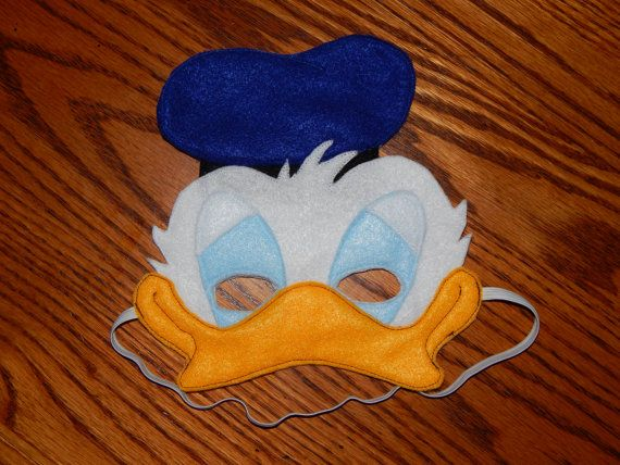 Donald Duck Felt Mask  Costume Accessory  Any by OurCozyCreations