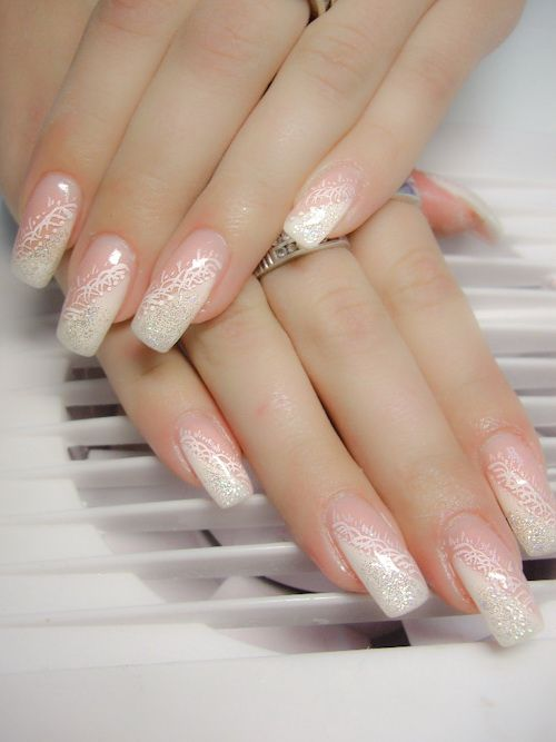 gold and white wedding manicure pedicure nails white. Black Bedroom Furniture Sets. Home Design Ideas