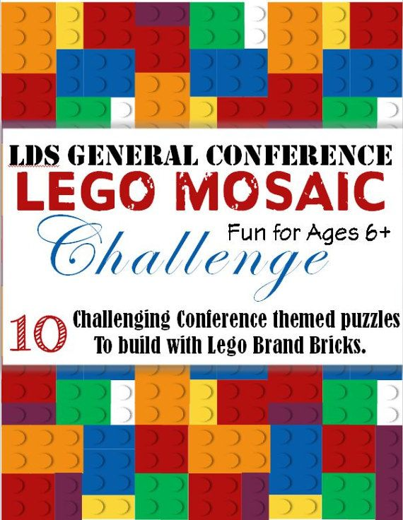 This looks really awesome for General Conference!  Etsy listing at https://www.etsy.com/listing/495598732/lds-general-conference-lego-mosaic