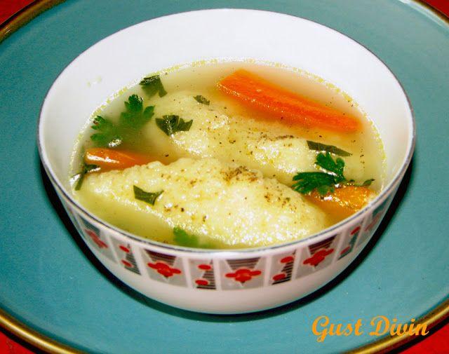 Supa de pasare cu galuste de gris