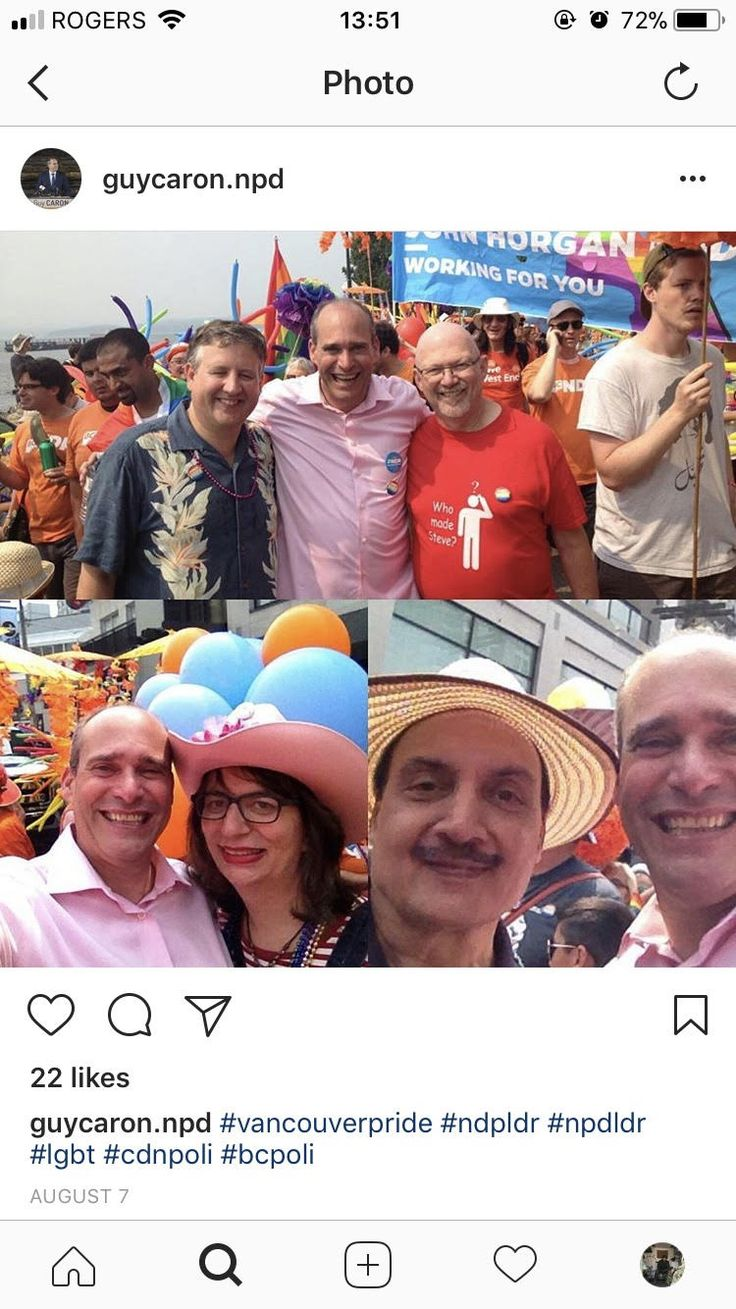 "Mr. Caron is seen here posing for pictures at the Vancouver Pride festival in an attempt to show his support for a community which liberal politicians have apparently deemed essential. With no prior or post mention to this particular community it is safe to say this is simply a weak pandering attempt to ""cover his bases"" so to speak."
