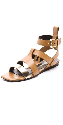 These leather sandals feature a metallic leather strap at the vamp. Buckled ankle strap and sliver wedge heel. Leather sole.: Victory, Victoire Cailey, Strappy Sandals, Planasflat Sandals, Cailey Strappy, For, Plana Flats Sandals, Metals Sandals, Jesus Sandals