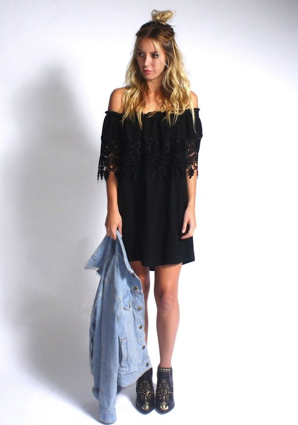 This Or That | Off-The-Shoulder Lace Dress | luxe happens