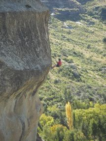 Abseiling near Clarens, Free State
