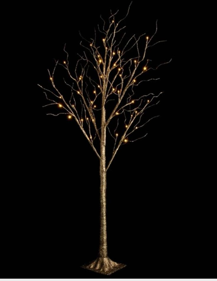 """48"""" LED Lighted Bronze Glitter Twig Tree Commercial Christmas Decoration - 31728990"""