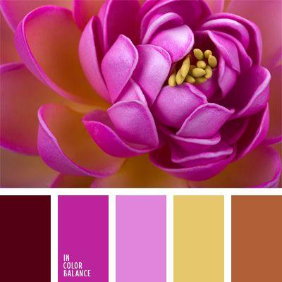 color carmesí oscuro, color fucsia, color lila, color ocre, colores para la decoración, contraste, elección del color, paletas de colores para decoración, paletas para un diseñador, púrpura rosado, tonos rosados, verde limón y rosado.