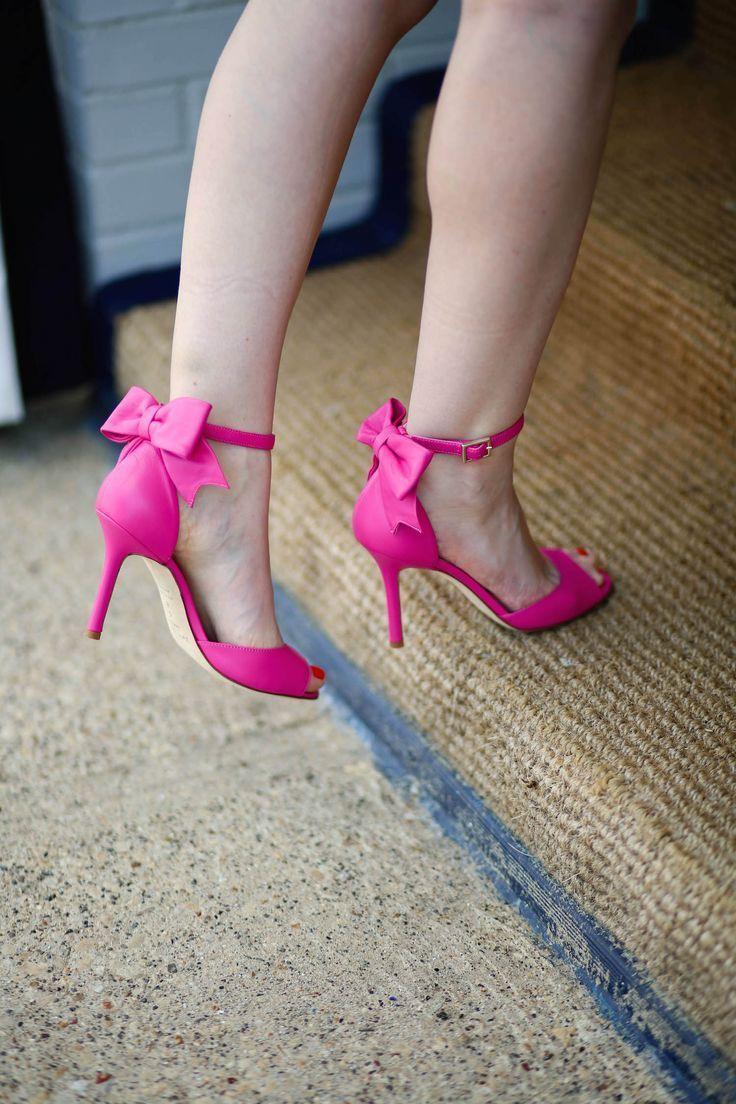 Kate Spade pink bow heels sandals